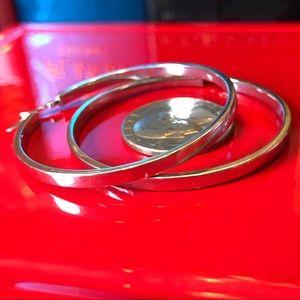14K WG Italy rare hoop earrings Saks Italy in EUC
